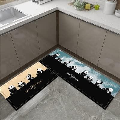 HLXX Alfombra de cocina más barata antideslizante alfombra de sala de estar, balcón, baño, alfombra impresa, pasillo geométrico A4 50 x 160 cm