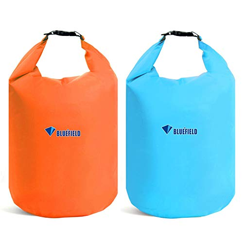 Bolsa Estanca impermeable - WENTS 2PCS Bolsas Impermeables Secas, Bolsa Seca, para Kayak, Playa, Rafting, Canotaje, Senderismo, Camping y Pesca(Naranja/Azul)