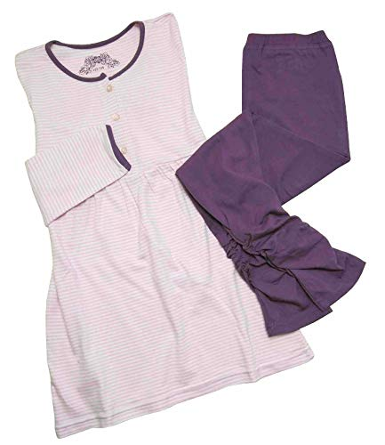 Tchibo TCM Mädchen Schlafanzug Lang Pyjama Baumwolle 122/128