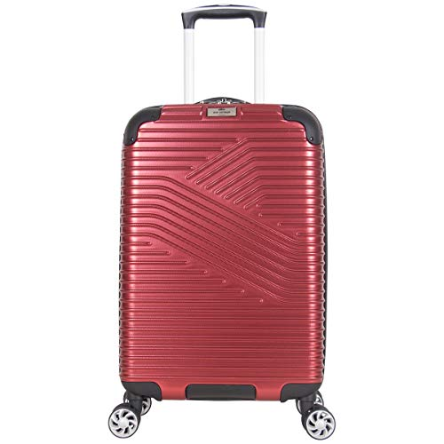 Ben Sherman Bangor 20' Lightweight Hardside PET 8-Wheel Spinner Expandable Carry-On Luggage / Suitcase, Warm Red