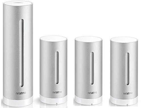 Netatmo - Set stazione meteo urbana, set risparmio, professionale, con sensori della qualità dell\'aria, per iPhone Apple e Android