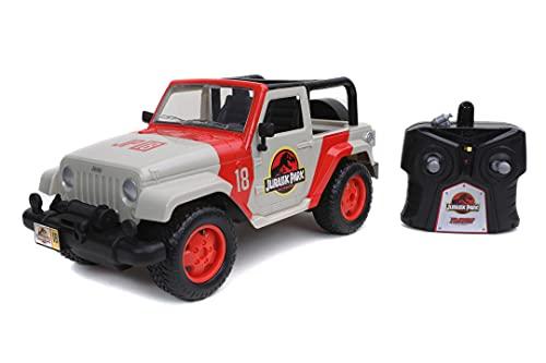 Jada Jurassic Park Jeep Wrangler Radiocontrol, 16.5 x 38.7 x 15.2 cm