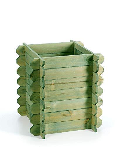 myGardenlust Hochbeet aus Holz - Kräuterbeet Bausatz für Garten Terrasse und Balkon - Pflanzkübel Natur als Gemüse Kräuter Beet - Pflanzkasten Groß für Outdoor Grün imprägniert | 57x57 cm