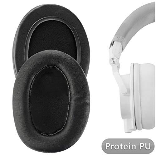 Geekria, Ersatz-Over-Ear-Ohrpolster mit Memory-Schaum für Audio-Technica ATH-M50X, ATH-M10, ATH-M20X, ATH-M30X, ATH-M40X, ATH-ANC9, besonders gepolstert, Schwarz