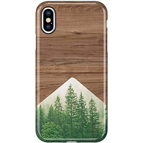 VIVIBIN iPhone Xs Max Cases,Cute Wood and Forest for Women Girls Clear Bumper Soft Silicone Rubber TPU Best Protective Cover Slim Fit Phone Case for iPhone Xs Max