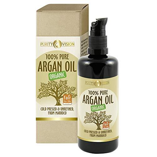 Purity Vision Arganöl für alle Hauttypen | für die Haare | für die Nägel | Gesichtsöl mit Vitamin E | Gesichtspflege für Frauen und Männer 100ml