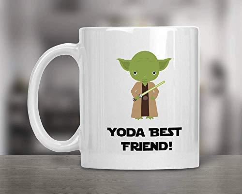 N\A Taza de Star Wars-Taza de Mejor Amigo de Yoda-Regalo de Star Wars-Mejor Taza de Yoda-Taza Divertida de Star Wars-Regalos para Amigo-Regalo para Amigo-Familia Taza Divertida
