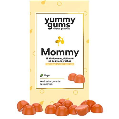 Yummygums Mommy - Zwangerschapsformule bij Kinderwens, Tijdens en na de Zwangerschap - Foliumzuur, D3 en 13 andere vitamines - 90 gummies - Geproduceerd in Duitsland