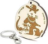 LIKY ® Banksy Hip hop Rata Rap Rat - llavero original de madera grabado regalo para día del padre hombre mujer cumpleaños pasapiempo colgante bolso mochila