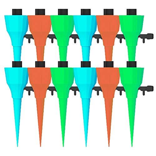 Zqlcc 15pcs automatisches Bewässerungssystem Bewässerung Tropfdüse Set Garten-Blumen-Haushalt Trinkbrunnen Flasche Tropfbewässerung Werkzeug (Color : 12pcs)