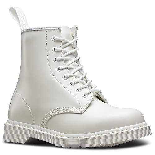 Dr. Martens Core 1460 Mono Smooth, Unisex-Erwachsene Stiefel, Elfenbein (Bianco), 41 EU (7 UK)