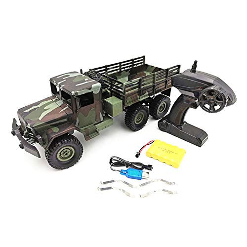 YU-NIYUT 2.4G Controller 1:16 Scale Military Truck 6WD Off-Road RC Vehicle Truck Crawler Car for Boys Kids and Adults