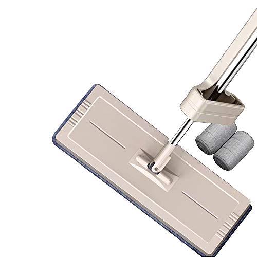 HUOQILIN 1 Stück Wischmopp Set 34cm, Klapphalter Magnet, Mopstange Edelstahl, Microfaser Mopp,A