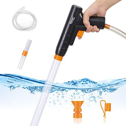 Hygger 水槽水換え 手動式 砂利掃除 一台三役 操作簡単 掃除時間を短縮 アクアリウム道具 水抜き速度を調節でき [小型水槽~80cm水槽用]