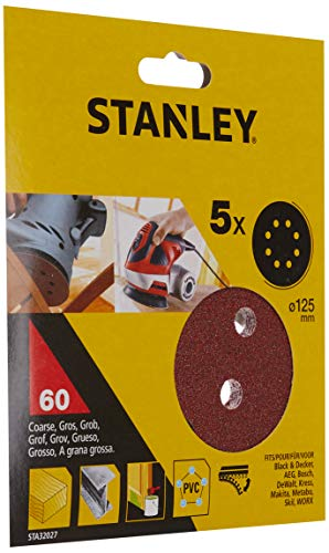 STANLEY STA32027-XJ 5 Discos ø 125 mm. Para lijadora rotorbital, braun