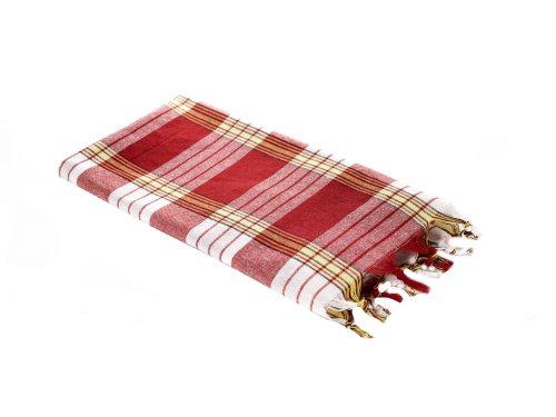Carenesse Hamamtuch CLASSIC rot kariert, 100% Baumwolle, 80 x 170 cm, leicht, kleines Packmaß, Pestemal, Saunatuch, Badetuch, Strandtuch, Handtuch Backpacker, Turkish Towel, Fouta