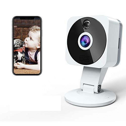 Telecamera Wi-fi Interno1080P, NIYPS Full HD senza fili Videocamera Sorveglianza con Visione Notturna, Audio Bidirezionale e Sensore di Movimento TelecameraIP Cloud per Baby Monitor, Bambini Cani