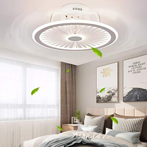 Deckenventilatoren Mit Beleuchtung, Mit Fernbedienung Dimmbar, Dimmbarer Windgeschwindigkeit, Moderne LED 40W Deckenleuchte Leise Ventilator Pendelleuchte Für Schlafzimmer Wohnzimmer Büro Lampe,Weiß