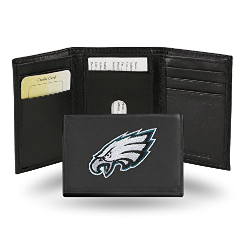 NFL Philadelphia Eagles Embroidered Genuine Leather Trifold Wallet