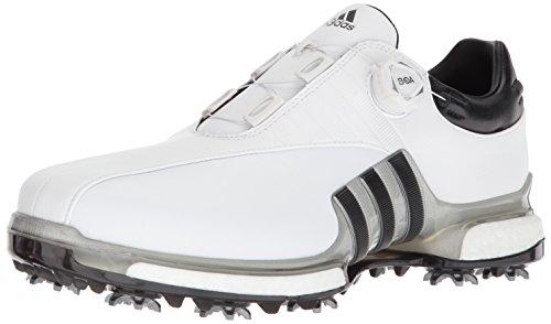adidas Men's TOUR360 EQT Boa Golf Shoe, FTWR White/Silver met./core Black, 10.5 Medium US