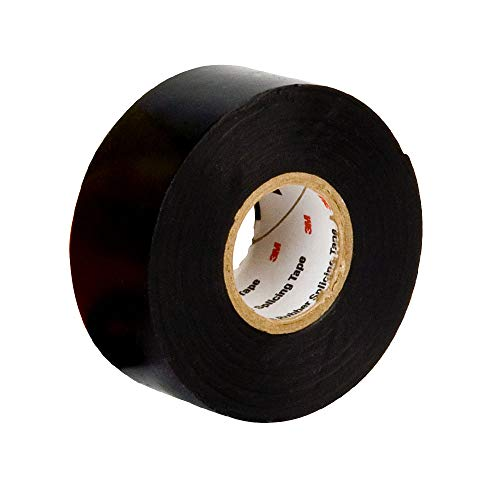3M 130C Scotch Linerless Rubber Splicing Tape: 1 in x 10 ft. (Schwarz)