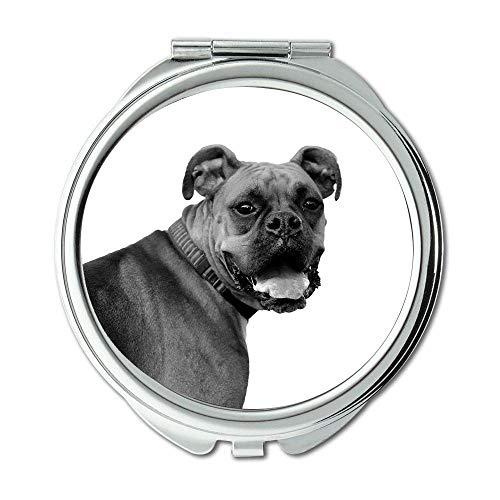 Yanteng Spiegel, Kleiner Spiegel, farbenfroher süßer Hund, Taschenspiegel, 1 X 2X Vergrößerung