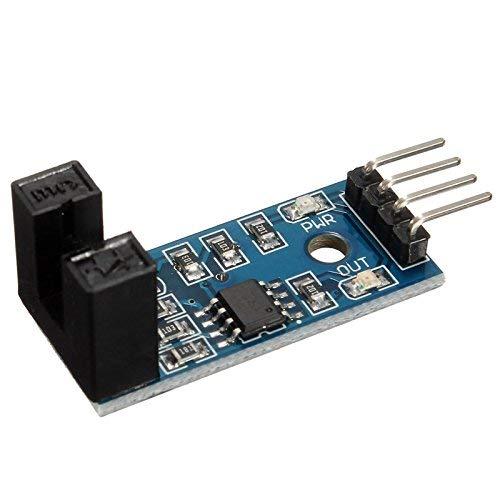 1 módulo de sensor de velocidad infrarrojo de 4 pines para Arduino / 51 / AVR/PIC 3,3 V-5 V aproximadamente 3,2 cm x 1,4 cm x 0,7 cm placa de módulo