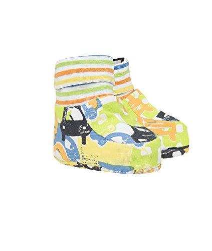 Döll Baby-Jungen Babyschuhe zum Wenden Jersey Socken, Blau (Mediterranian 3028), One Size (Herstellergröße: 0)