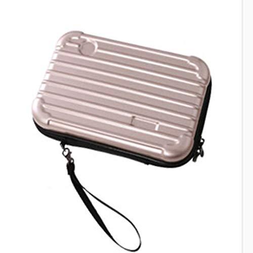 Yuanyuanliu Erhöhen Sie die Version des Airbag waschen Make-up Speicherplatz Tasche wasserdicht PC Harte Reisetasche weibliche Han tragbare Reise Flut Paket (Color : Beige)