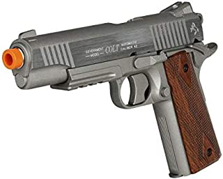 CyberGun COLT 1911 Non-Blowback Metal CO2 Gas Airsoft Pistol Gun with Rail 6mm Stainless Steel