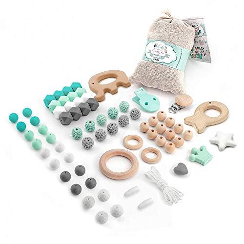 Verde RUBY Chupetero hex/ágono para bebe con bola silicona antibacteria Envio desde Espa/ña
