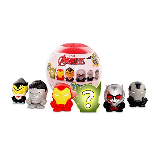 Basic Fun Official Mash'ems Super Sphere - Marvel Avengers Series 8 - Squishy Collectible Figures  6 Pack - Amazon Exclusive