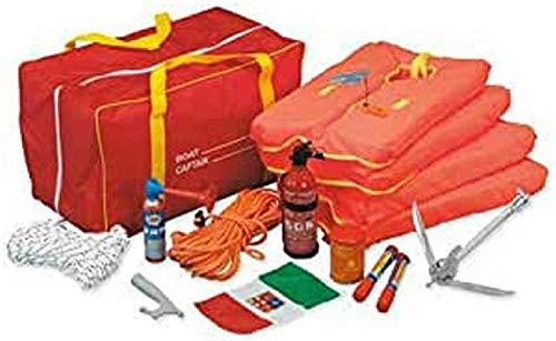 art pesca Kit completo para navegación de hasta 3 millas, bolsa impermeable para 4 personas, náutica, barco, goma, kit F incluido