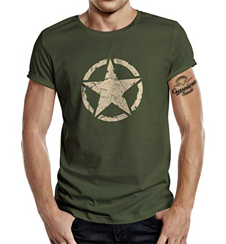 Classic T-Shirt für den US-Army Fan: Vintage Star 3XL