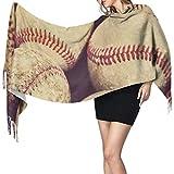 N/A Giovani adulti Competiton Baseball avanzato Sciarpa colorata Sciarpa divertente Ragazze Scialle avvolgente Grande morbido Pashmina Extra caldo