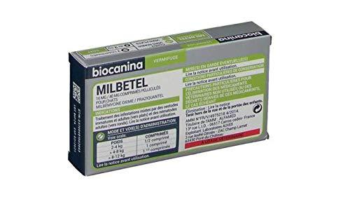 Biocanina milbetel vermifuge pour chats 2 comprimés