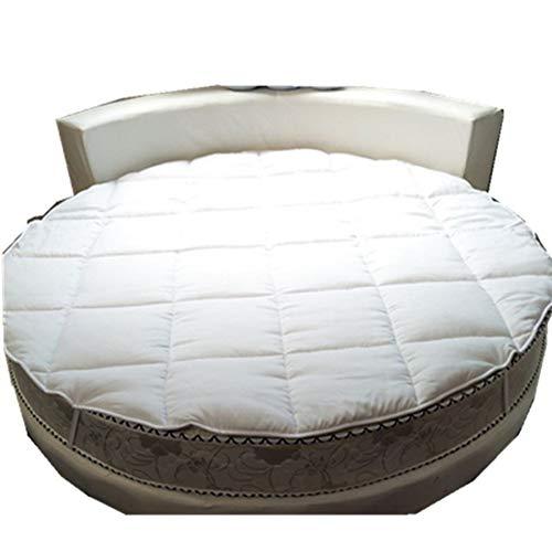 qwqqaq Verdicken Runde Bett Matratze,atmungsaktive Matratzen-Topper Mit Non Slip Bottom Quilting Weich Matratzenauflage Für Hotel A 220x220cm(87x87inch)