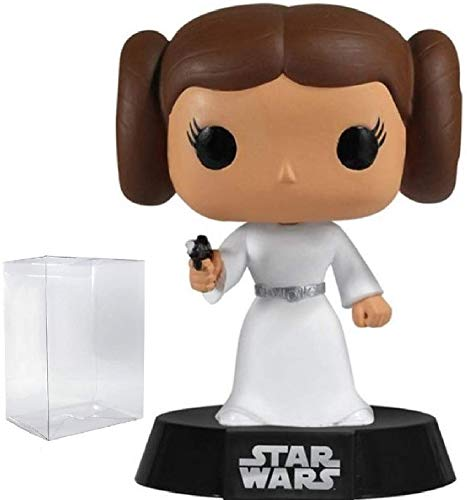 Star Wars: A New Hope - Princess Leia Funko Pop! Vinyl Bobble-Head Figure (Includes Compatible Pop Box Protector Case)