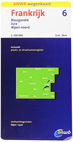 Frankrijk 6: Bourgondië, Jura, Alpen Noord schaal 1:300.000