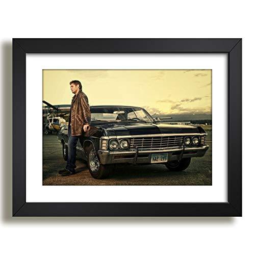 Quadro Impala 65 Supernatural Serie Tv Filme Decorativo Sala Paspatur Pronto para Pendurar