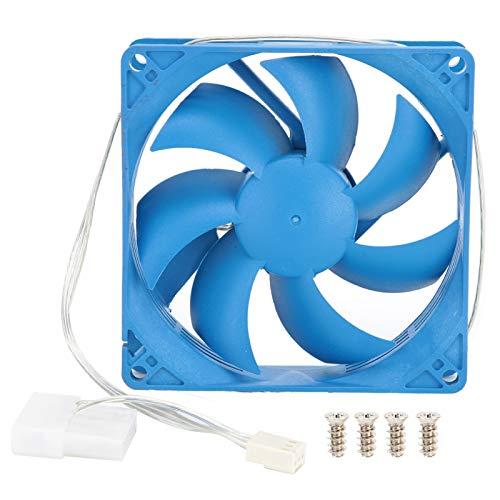 PUSOKEI Ventilador de Caja de computadora para PC, disipador de Calor silencioso de 12V para Caja de PC, Ventilador de enfriamiento silencioso de Gran Volumen de Aire de bajo Ruido