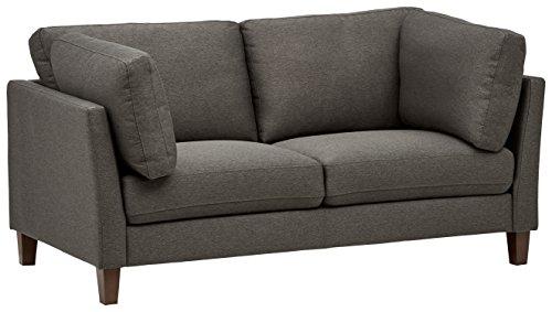 Marchio Amazon -Rivet, divano modello Midtown, con cuscini rimovibili, stile moderno, larghezza 174 cm, colore carbone