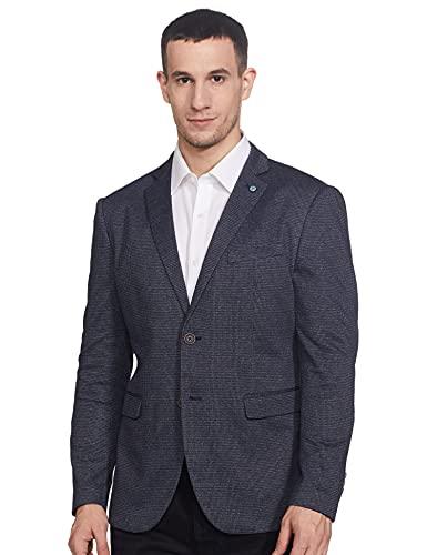 Arrow Newyork Men's Full Sleeves Slim Fit Blazer (AFZBZ5025_Dark Blue_42)