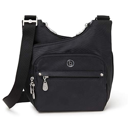 BG by Baggallini Charlotte Crossbody Bag - Stylish, Lightweight, Adjustable-Strap Purse With Multiple Pockets and RFID Protection, Black