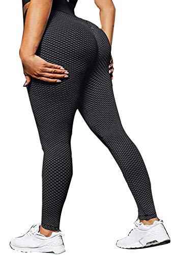 CheChury Leggings Sin Costuras Corte de Malla Mujer Pantalon Deportivo Alta Cintura Yoga Elásticos Fitness Seamless Mallas Pantalones Deportivos Leggings Mujer Yoga de Alta Cintura Running Pus