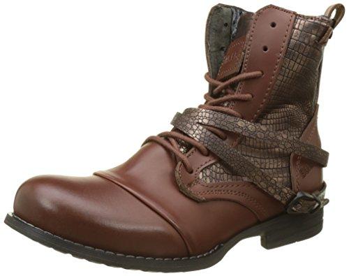 BUNKER Damen KOL Biker Boots, Braun (Cognac LU4), 37 EU