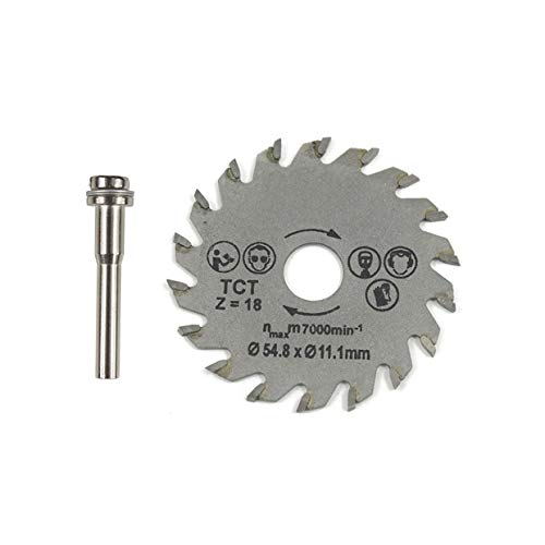 YUIO Hoja de sierra circular HSS herramienta rotativa 54,8 mm Mini discos...