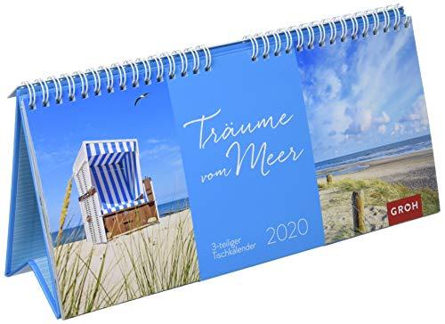Träume vom Meer 2020: 3-teiliger Tischkalender mit Monatskalendarium