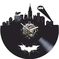 Batman Vinyl Wall Clock, Batman Xmas Gift For Boy, Wall Clock Large, Batman Gift For Kids, Batman Birthday Gift For Boy, Batman Gift For Boy, Batman New Year Gift, Vinyl Wall Clock