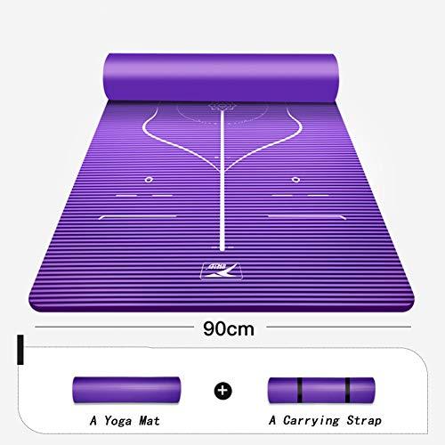 JDNDN Nbr Extra-Gruesas Viaje Pilates Mat,Espuma Estera De Yoga Alfombrilla...